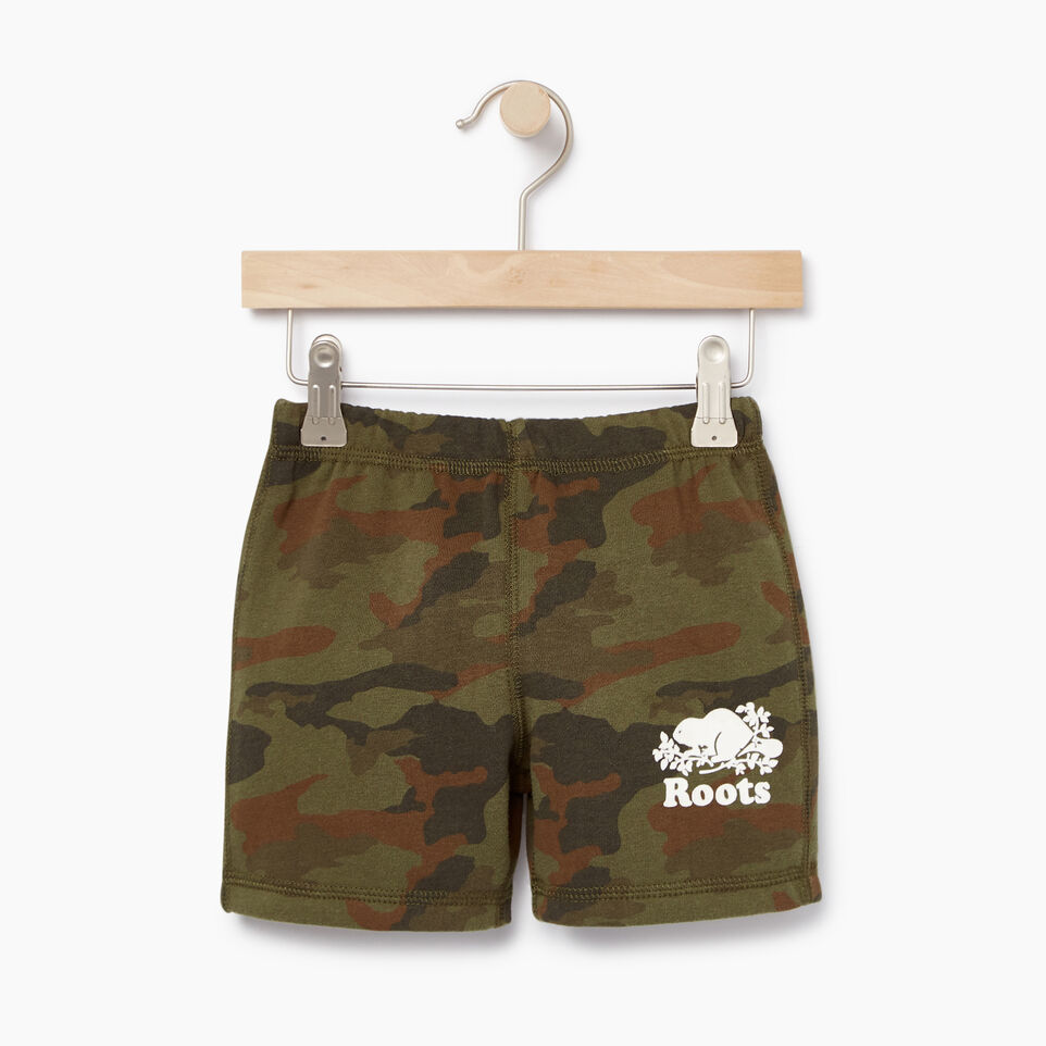 Roots-Kids New Arrivals-Toddler Camo Short-Winter Moss Green-A