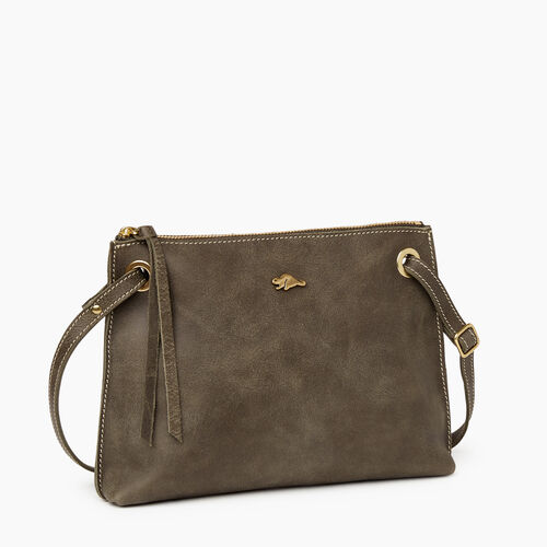 Roots-Leather Crossbody-Edie Bag-Pine-A