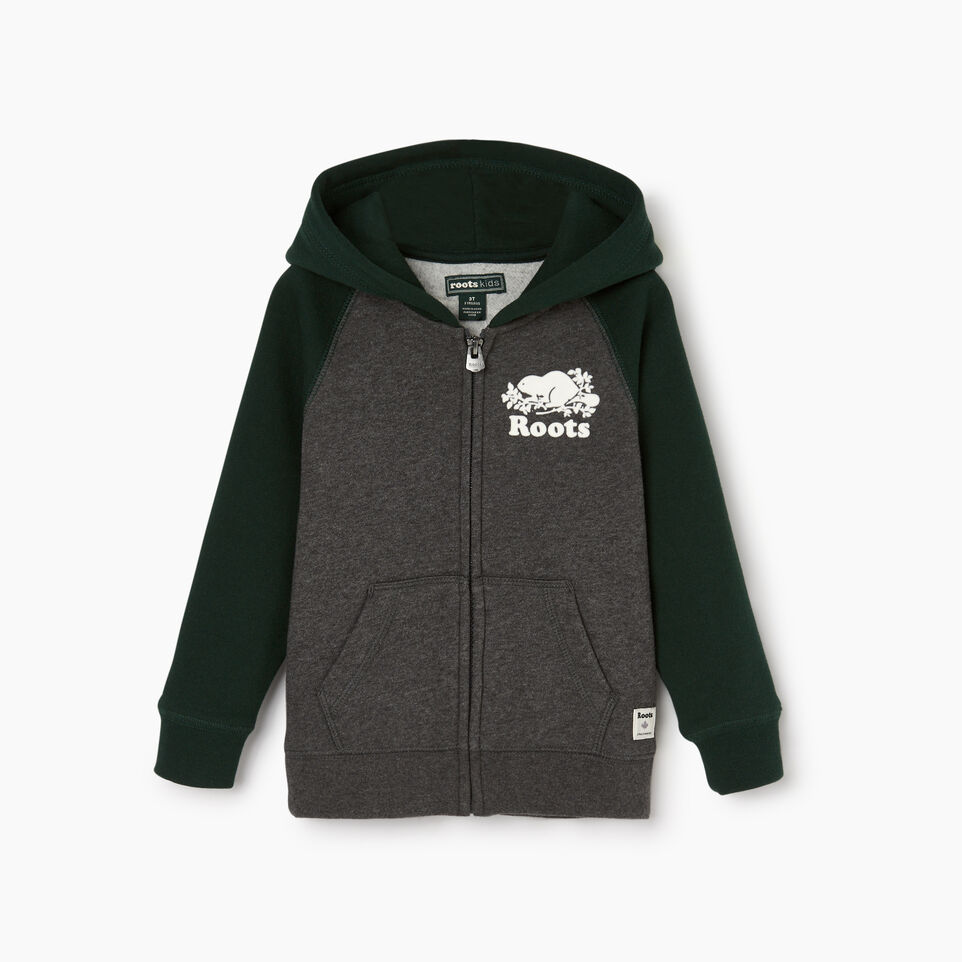 Roots-Kids Our Favourite New Arrivals-Toddler Original Full Zip Hoody-Varsity Green-A