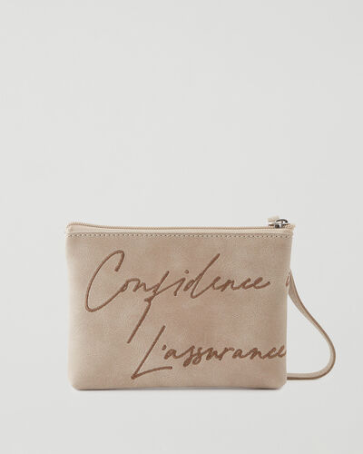 Roots-New For This Month International Women's Day-IWD Confidence Pouch Tribe-Sand-A