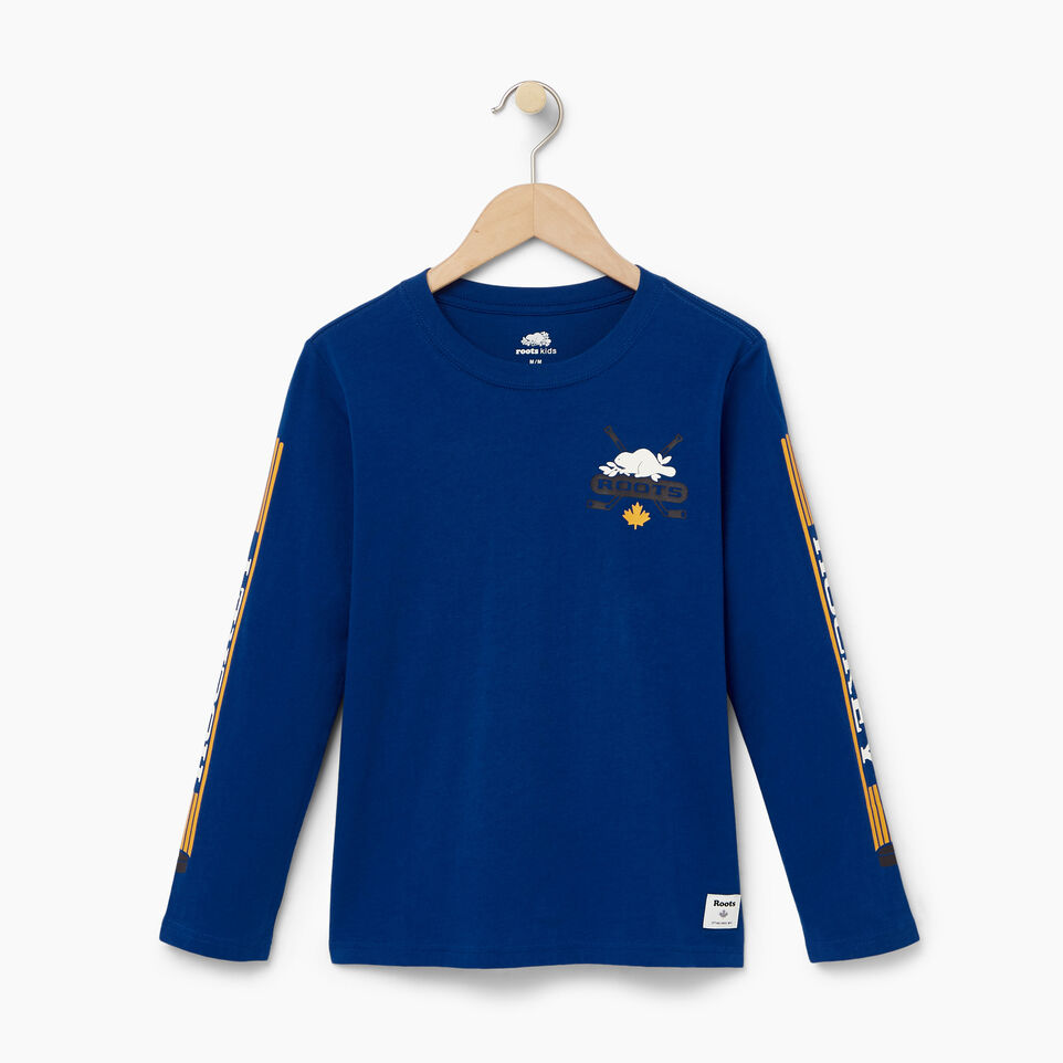 Roots-Kids Our Favourite New Arrivals-Boys Hockey T-shirt-Active Blue-A