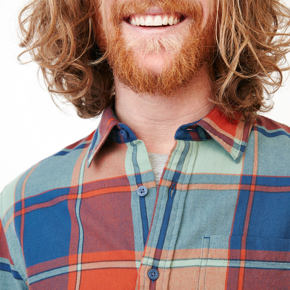 Roots-Men Our Favourite New Arrivals-Lakewood Plaid Shirt-Sargasso Sea-E