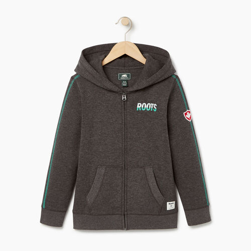 Roots-Kids Our Favourite New Arrivals-Boys Roots Speedy Full Zip Hoody-Charcoal Mix-A