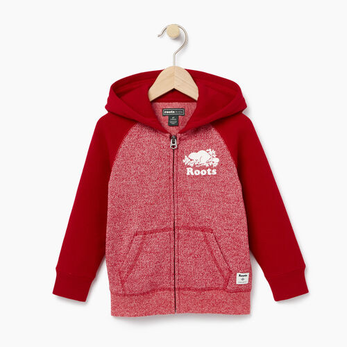 Roots-Kids Tops-Toddler Original Full Zip Hoody-Cabin Red Pepper-A