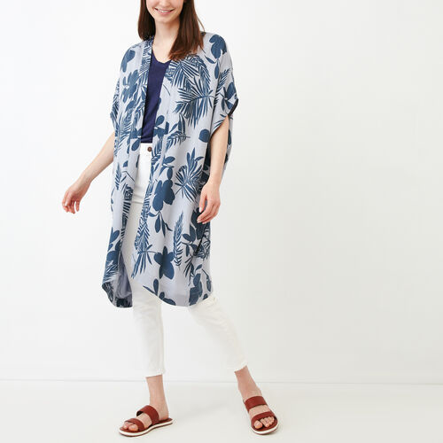 Roots-Women Scarves & Wraps-Clearwater Kimono-Navy-A