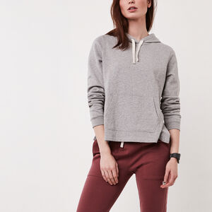 Roots-New For March Women-Baby French Terry Kanga Hoody-Grey Mix-A