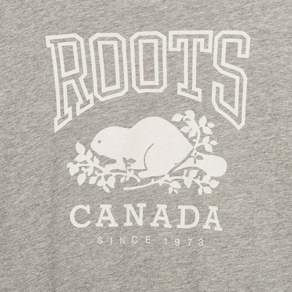 Roots-Clearance Kids-Girls Roots Classic Top-Grey Mix-D