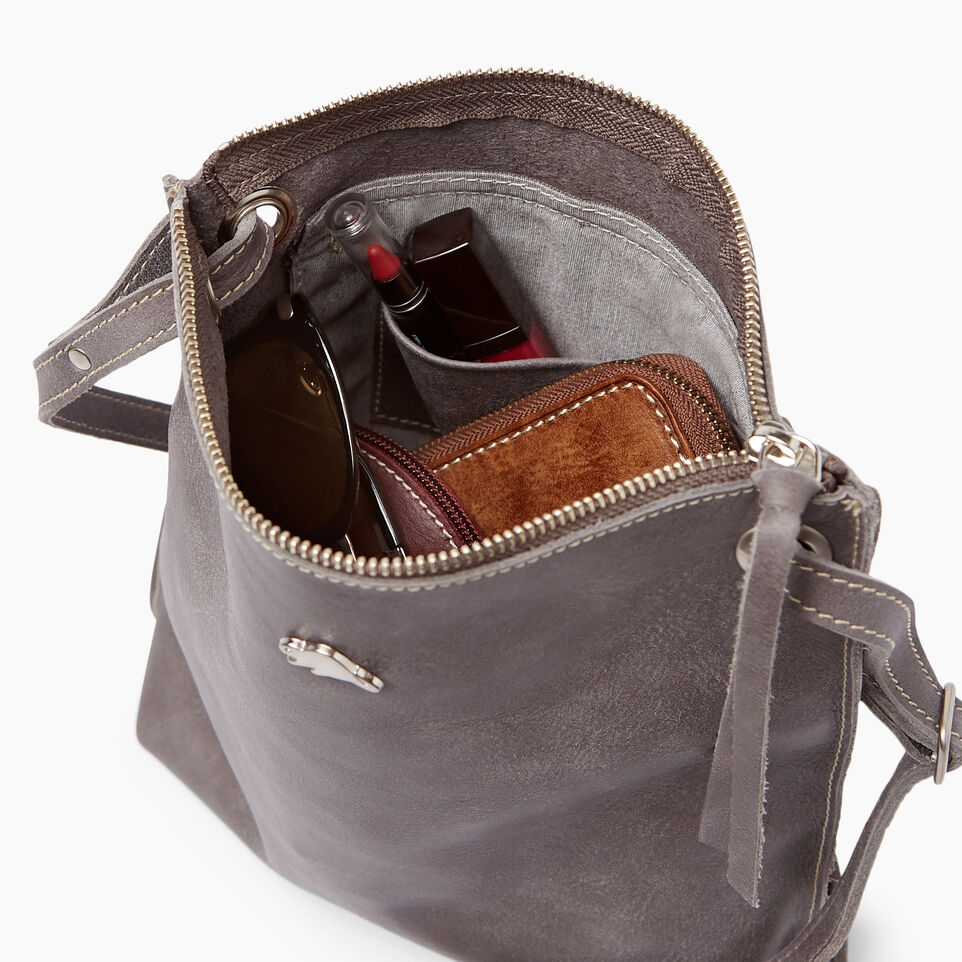 Roots-Leather  Handcrafted By Us Handbags-Festival Bag Tribe-Charcoal-E