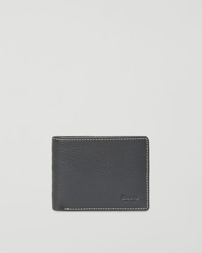 Roots-Leather Men's Wallets-Mens Slimfold Sideflap Cervino-Grey-A
