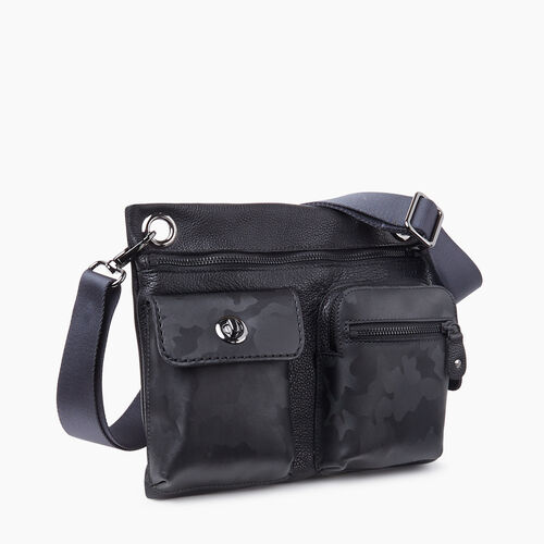 Roots-Leather Crossbody-Village Bag Camo-Black Camo-A