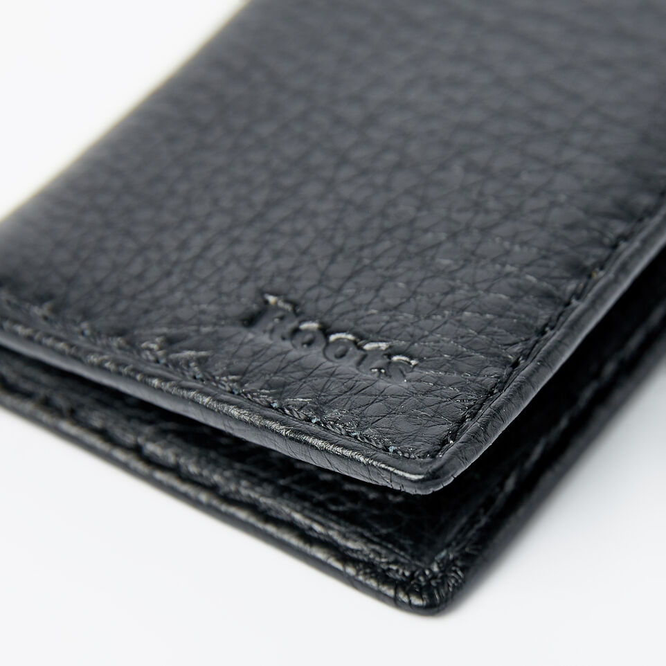 Roots-Men Wallets-Card Case With Id-Black-D