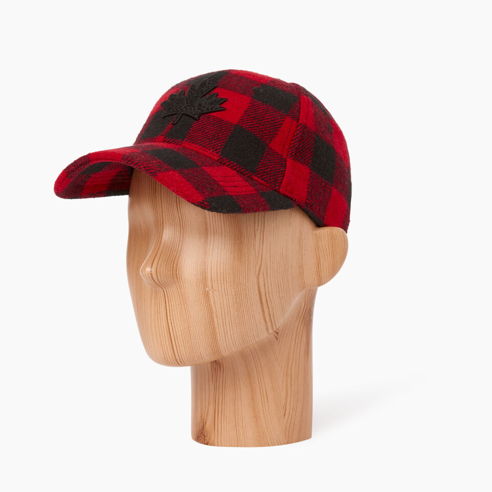 Roots-undefined-Park Plaid Leaf Baseball Cap-undefined-C