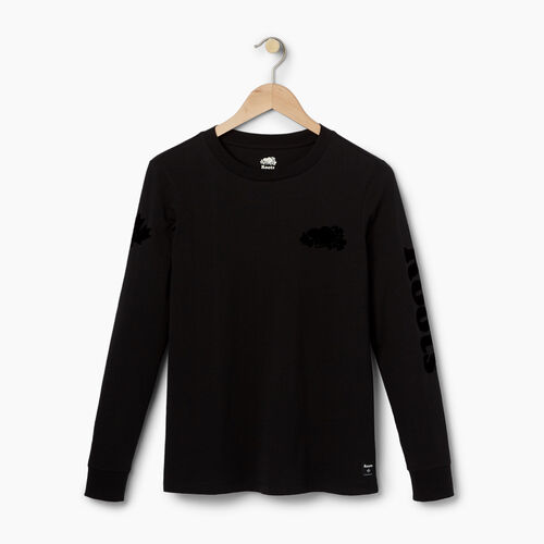 Roots-Winter Sale 40-50% Off - View All-Womens Cooper Remix Long Sleeve T-shirt-Black-A