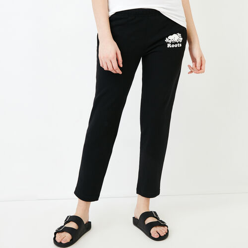 Roots-Women Bestsellers-Easy Ankle Sweatpant-Black-A