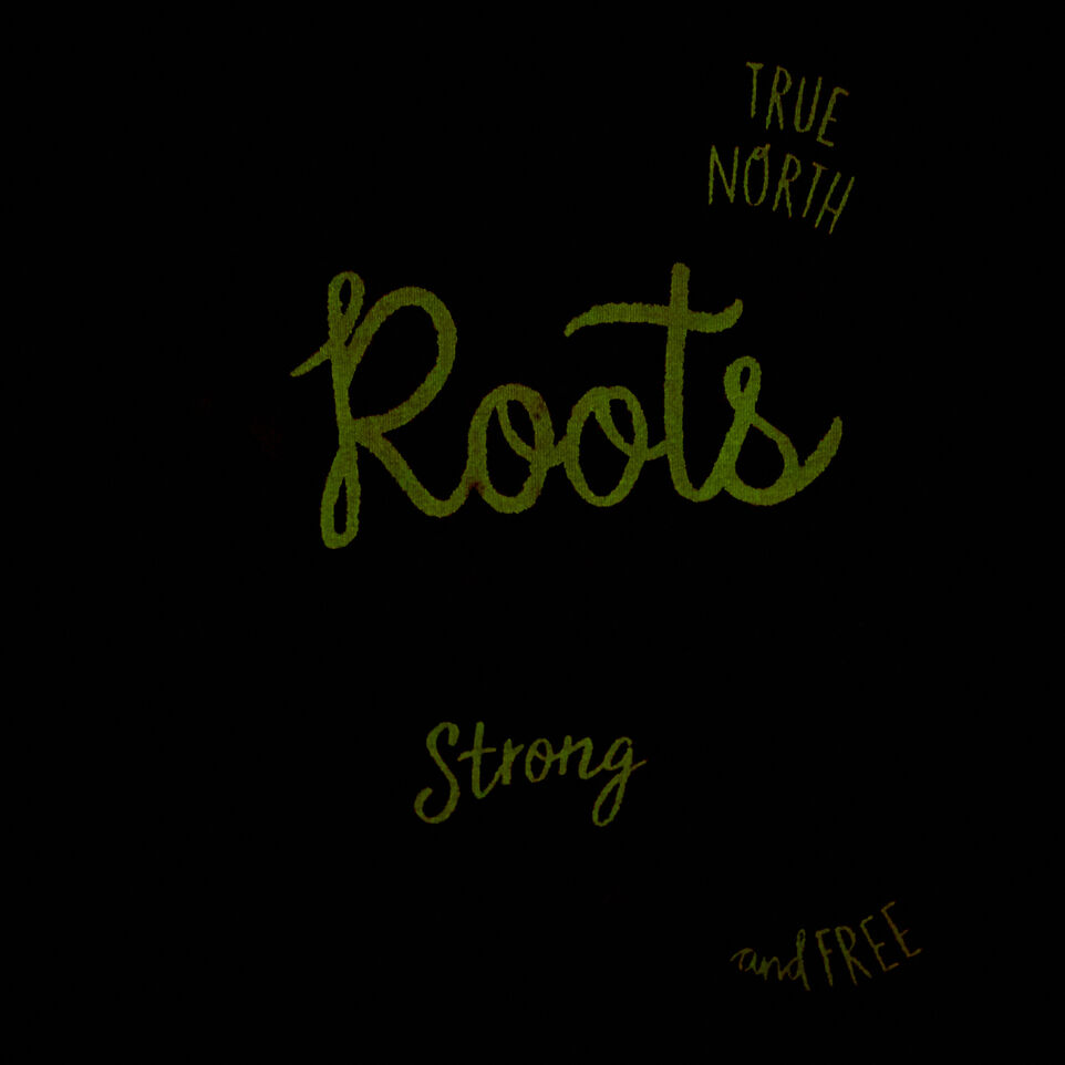 Roots-Kids T-shirts-Girls Glow-in-the-dark T-shirt-White Mix-E