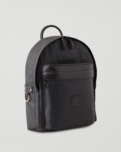 Roots-Leather Backpacks-Student Pack Cervino-Black-A