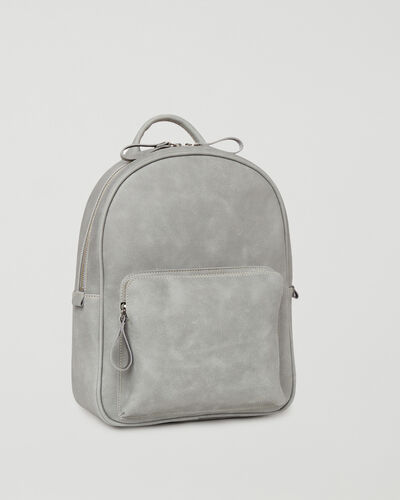 Roots-Leather Backpacks-Chelsea Pack Tribe-Quartz-A