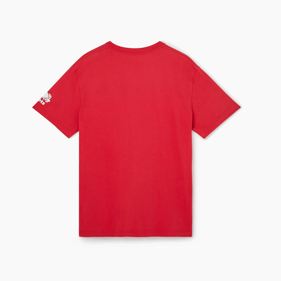 Roots-New For July Men-Mens Blazon T-shirt-Sage Red-B