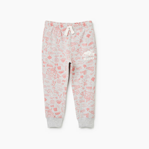 Roots-Kids Bottoms-Toddler Camp Slim Cuff Sweatpant-Snowy Ice Mix-A