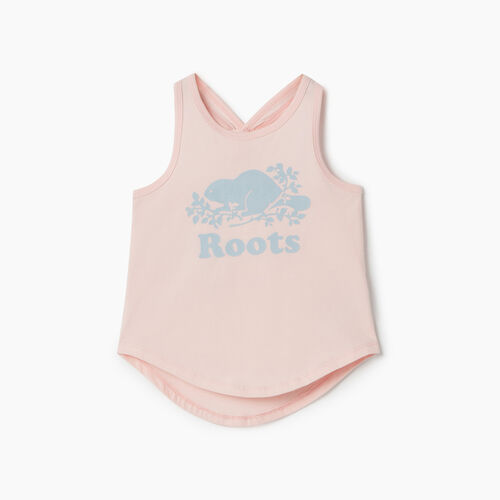 Roots-Kids Tops-Toddler Knot Tank-English Rose-A