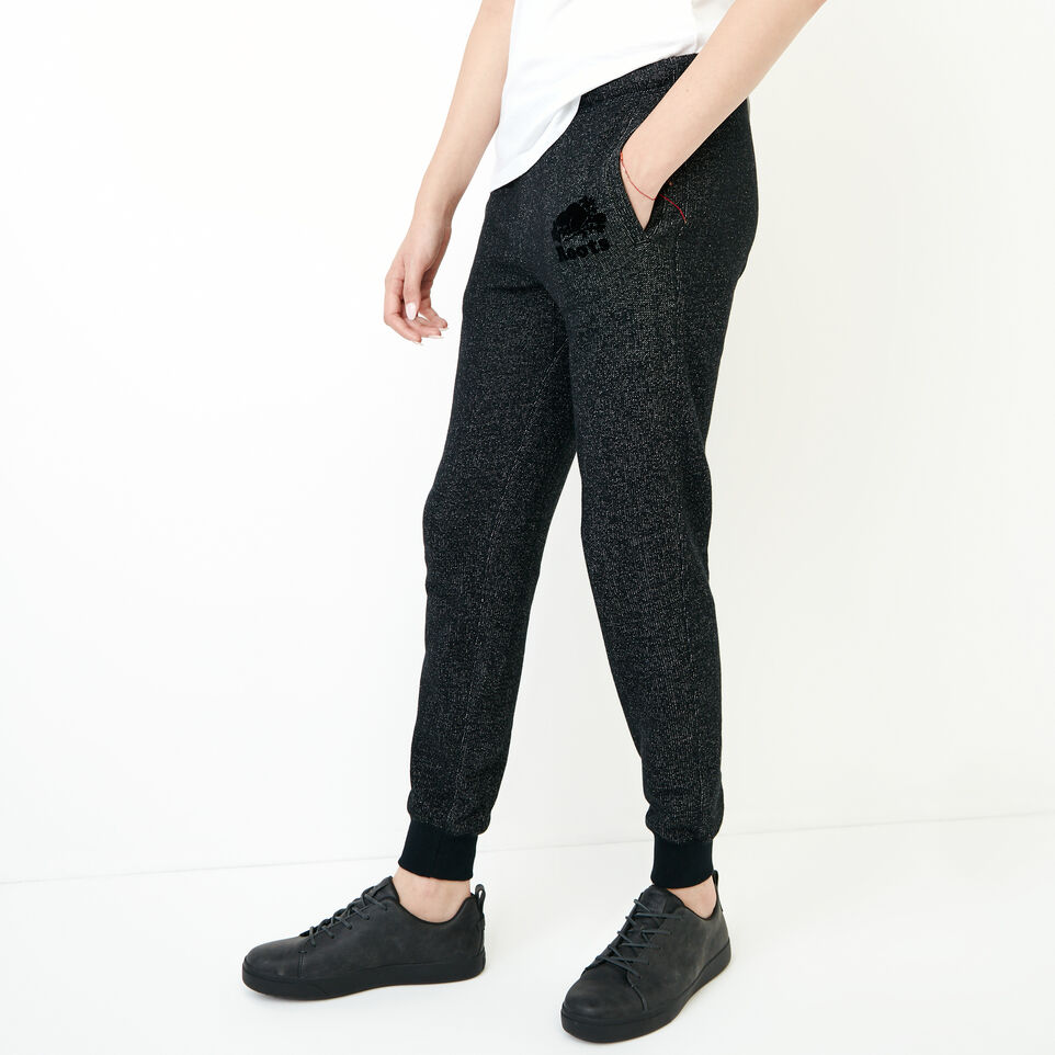 Roots-Women New Arrivals-Slim Cuff Sweatpant - Short-Black Pepper-C