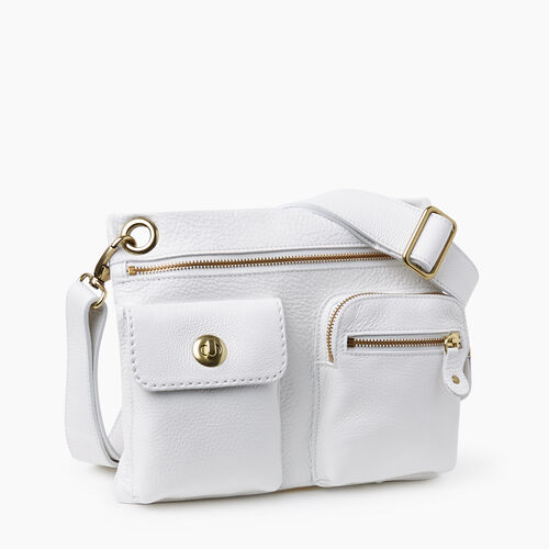 Roots-Women Crossbody-Village Bag Prince-White-A