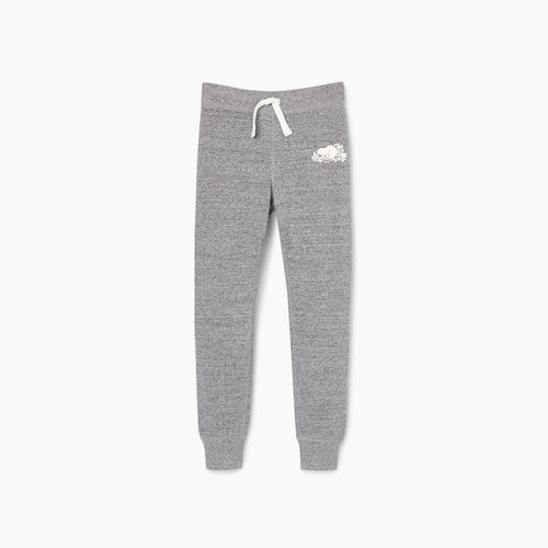 Roots-Kids Girls-Girls Cozy Fleece Sweatpant-Salt & Pepper-A