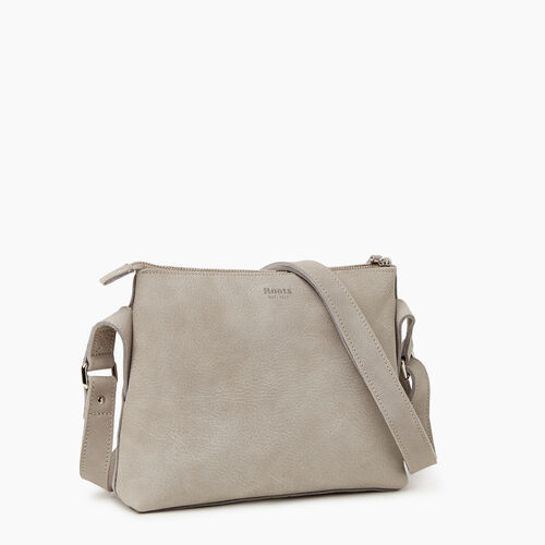 Roots-Leather Handbags-Journey Crossbody Tribe-Sterling Grey-A