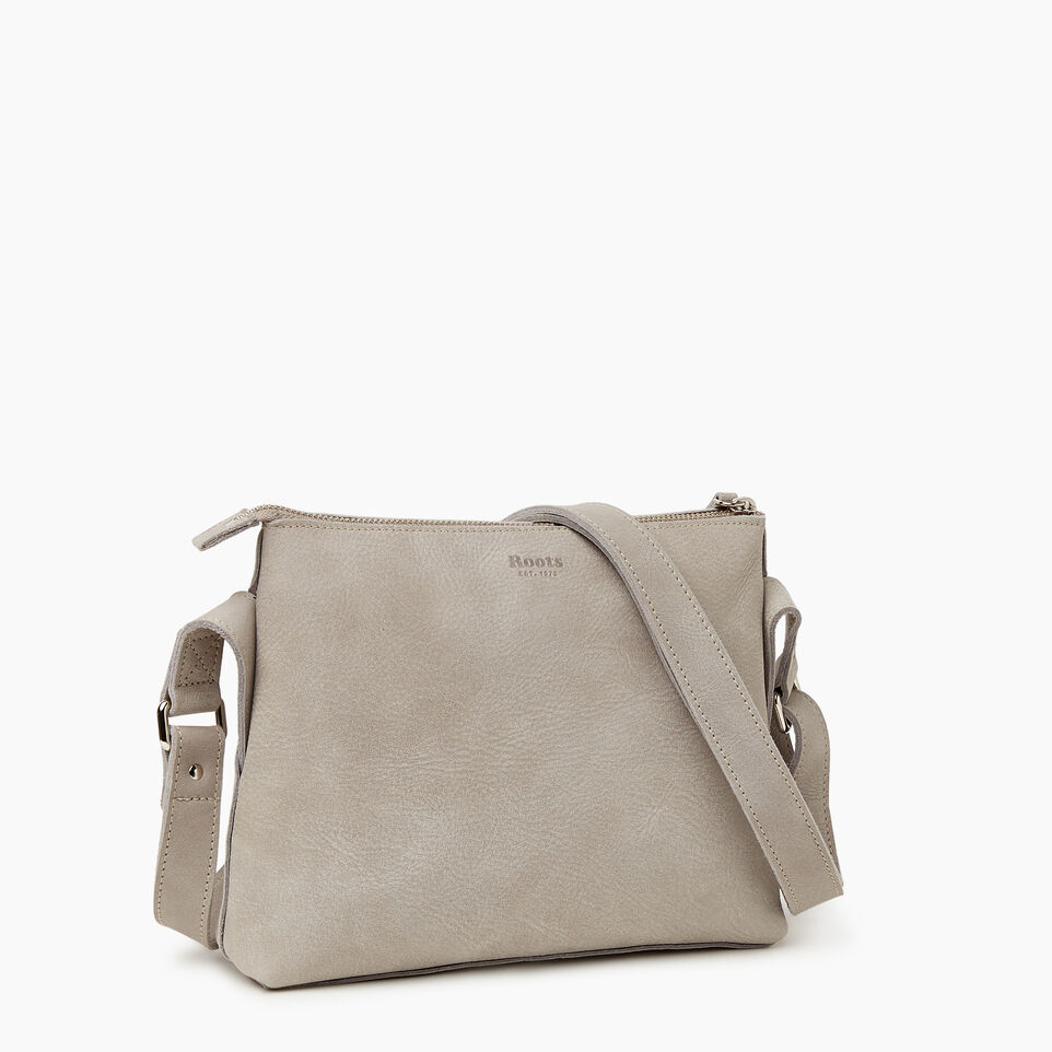 Roots-Women Leather-Journey Crossbody Tribe-Sterling Grey-A