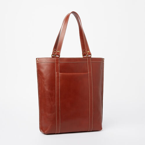 Roots-Winter Sale Leather-Market Tote Heritage-Oak-A