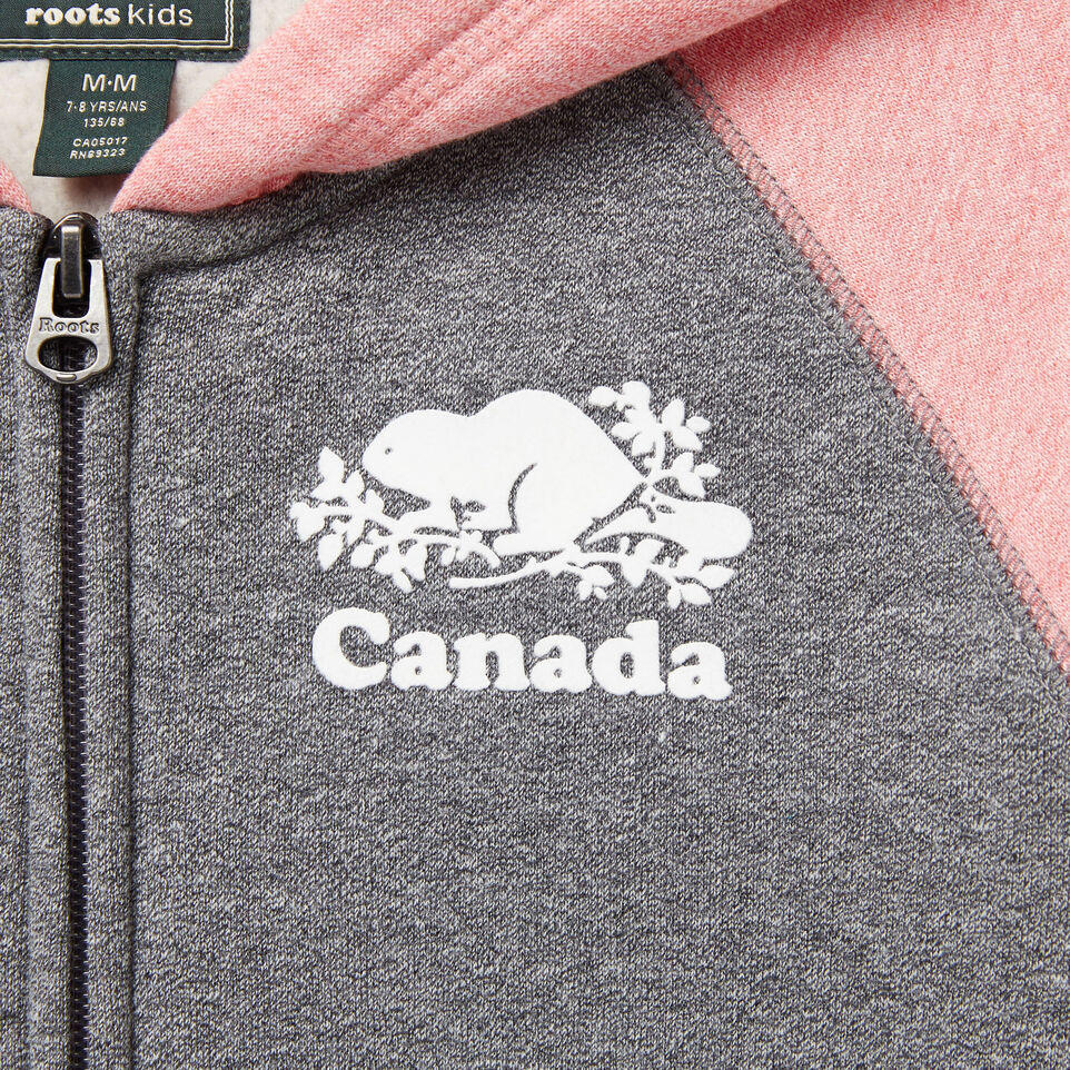 Roots-undefined-Girls Cooper Canada Full Zip Hoody-undefined-C