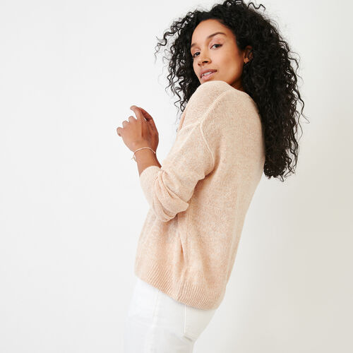 Roots-Women Our Favourite New Arrivals-Tathlina Crew Sweater-Dusty Peach Melba-C