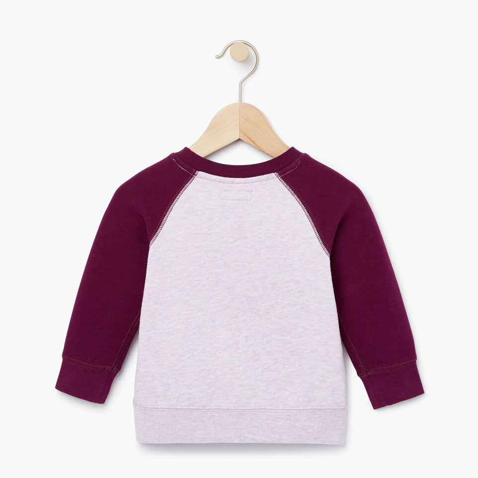 Roots-Sale Kids-Baby Original Crewneck Sweatshirt-Lupine Mix-B
