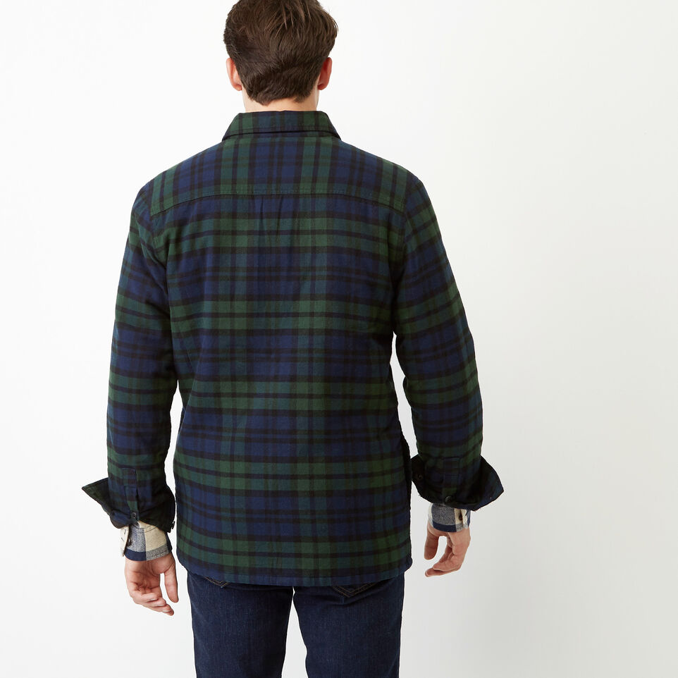 Roots-Winter Sale Men-Ossington Quilted Flannel Shirt-Green Gables-D