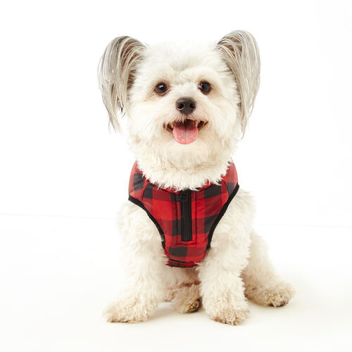 Roots-New For November Roots X Canada Pooch®-Pooch Park Plaid Puffer Size 14-Red-