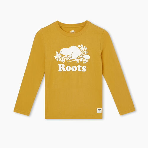 Roots-Gifts Gifts For Kids-Boys Original Cooper Beaver T-shirt-Honeycomb-A