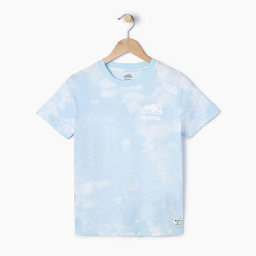 Roots-Women Tops-Womens Moncton T-shirt-Baby Blue-A