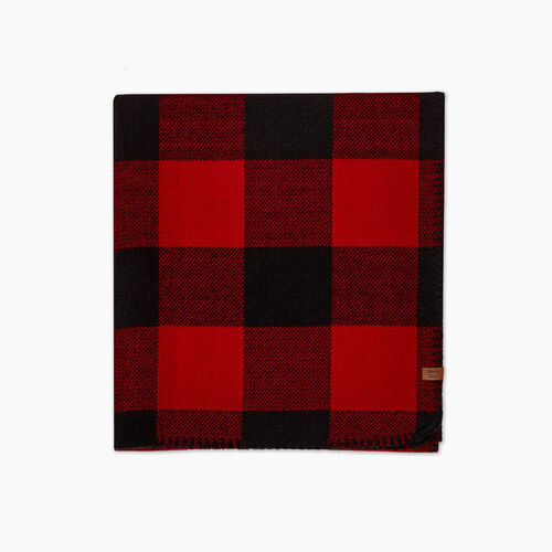 Roots-New For October Plaids-Park Plaid Scarf-Cabin Red-A