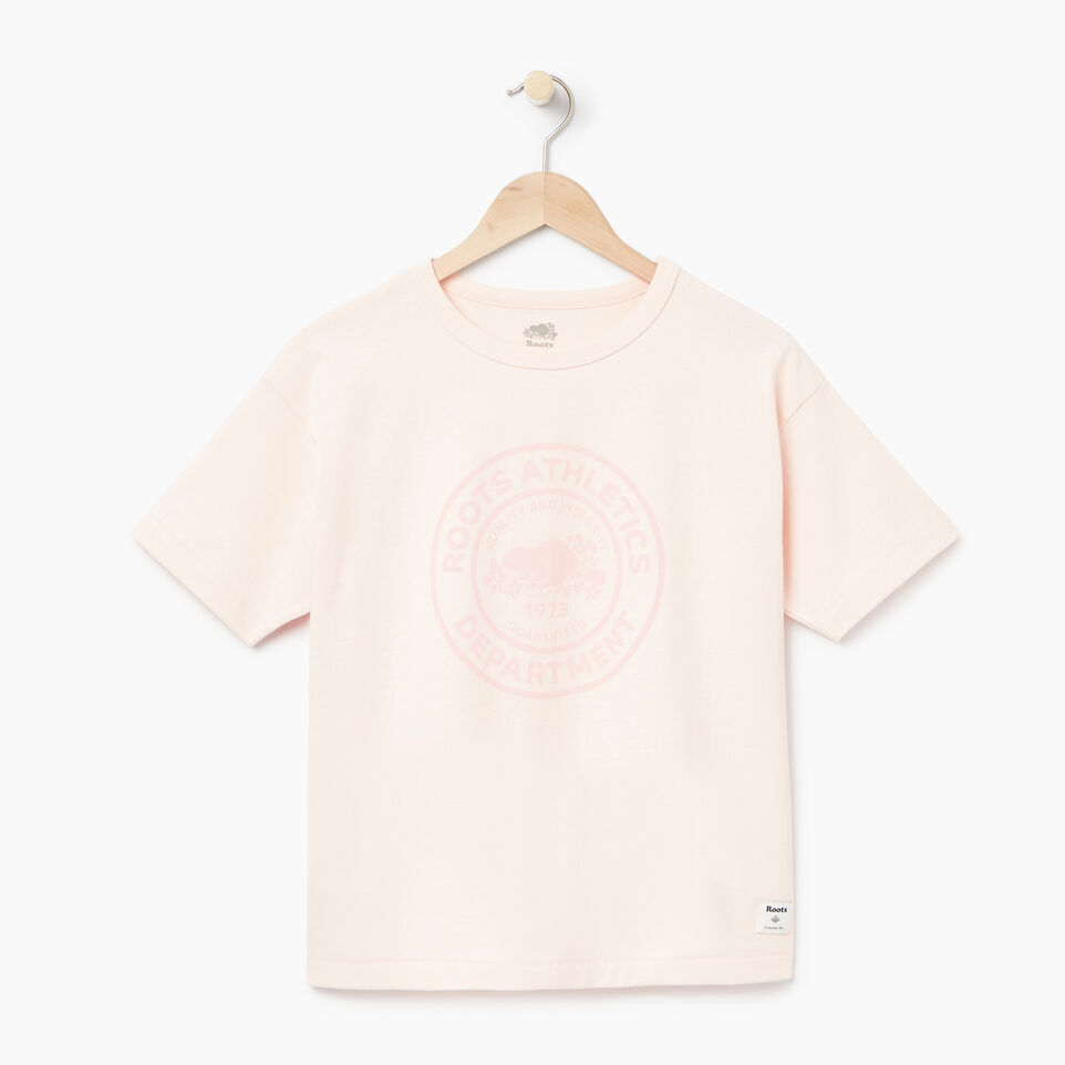 Roots-Women Clothing-Womens Heavy Jersey Boxy T-shirt-Cloud Pink-A