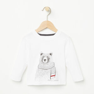 Roots-Sale Kids-Baby Winter Animals T-shirt-White-A