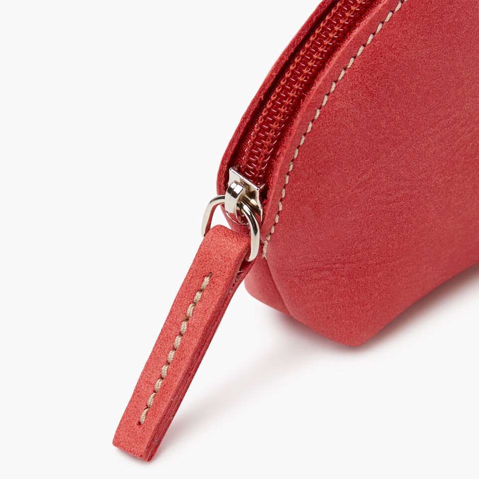 Roots-Leather New Arrivals-Small Euro Pouch-Coral-D