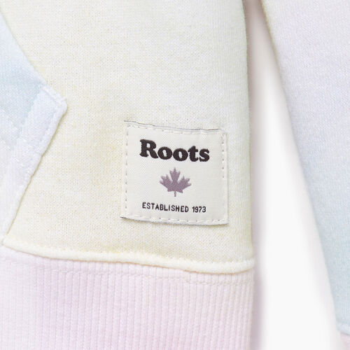 Roots-Kids Our Favourite New Arrivals-Girls Watercolour Full Zip Hoody-Ivory-C