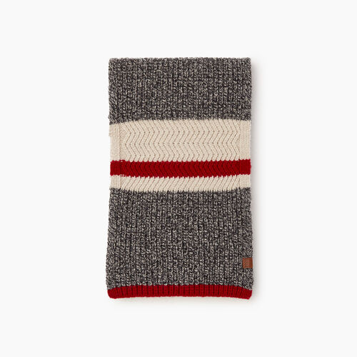 Roots-Men Scarves-Cabin Rib Scarf-Grey Oat Mix-A