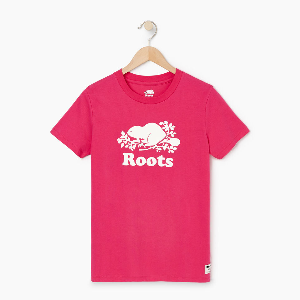 Roots-Women Our Favourite New Arrivals-Womens Cooper Beaver T-shirt-Fuchsia Purple-A
