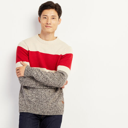 Roots-Men Sweaters & Cardigans-Cotton Cabin Crew Sweater-Speckle-A