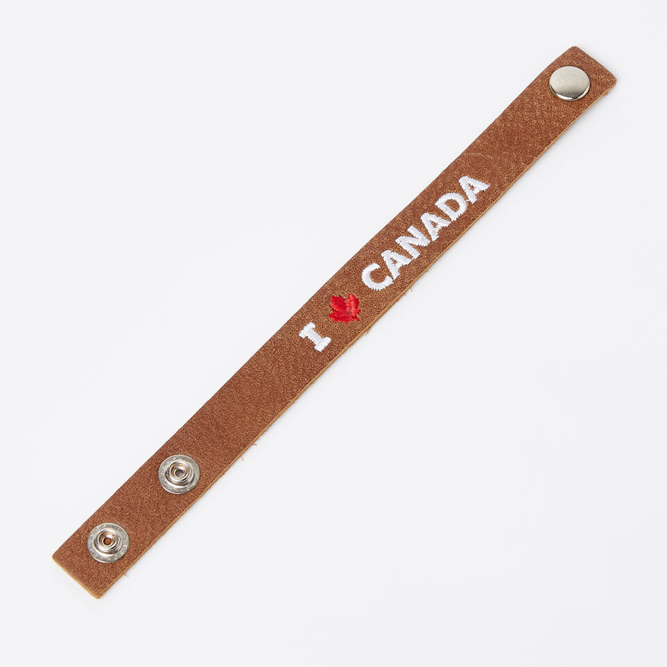 Roots-undefined-Bracelet J'aime le Canada en cuir Tribe-undefined-A