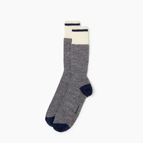 Roots-Men Our Favourite New Arrivals-Mens Roots Pop Cabin Sock 2 pack-Navy-A