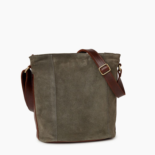 Roots-Leather Bestsellers-Victoria Bucket Suede-Fatigue-A