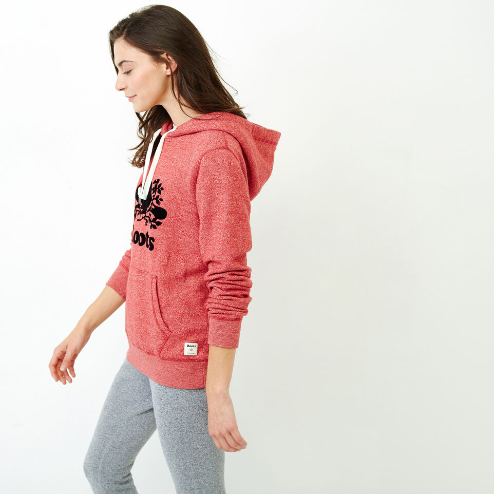 Roots-Women Clothing-Buddy Cozy Hoody-Cabin Red Pepper-C