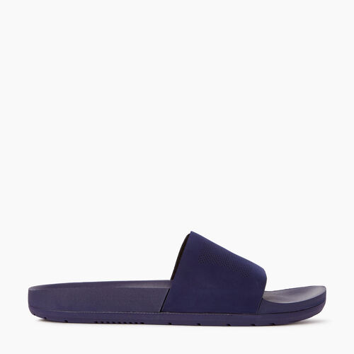 Roots-Footwear Men's Footwear-Mens Long Beach Pool Slide-Eclipse-A